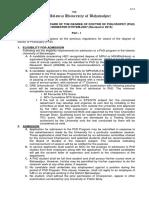 Regulations for Award PHD
