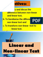 Linear and Nonlinear Text