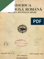 Biserica Orthodoxă Romană  Jurnal Periodic Eclesiastic, 60, nr. 07-08, iulie-august 1942.pdf