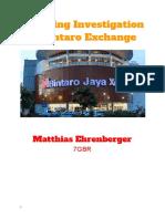 Mall Trip Year 7 Report - Matthias Ehrenberger