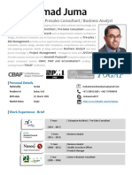 Mohammad Juma - Solutions Architect & Senior Business Analyst - June 2019