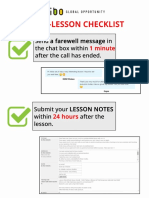 Post-Lesson Checklist 03.19.2018