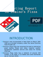 Marketing Project on Dominos