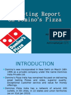 comparison of marketing strategies of dominos It is a project about the marketing strategies of pizza & dominos   project on marketing strategies of pizza hut and dominos  respect of store in comparison .