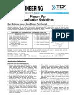 FE 3500 Plenum Fan Application Guidelines