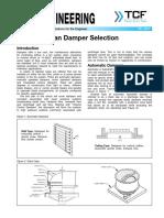 FE 2600 Fan Damper Selection