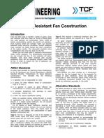 FE 2200 Spark Resistant Fan Construction
