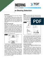 FE 1200 Fan Bearing Selection