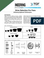 FE 1400 v Belt Drive Selection for Fans