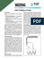 FE 900 Field Testing of Fans