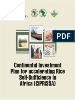 Continental Investment Plan for accelerating Rice Self-Sufficiency in Africa' (CIPRiSSA)