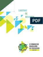 Caderno do 2o encontro de Percussão/Brasil