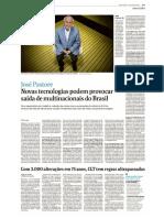 Entrevista José Pastore - Desenvolvimento Tecnologico Deve Tirar Empregos No Brasil