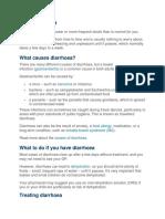 About Diarrhoea