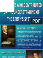 Scientists Who Contributed on Understanding the Earth's System