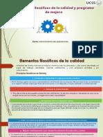 Elementos Filosóficos y Programa de Mejora. ADMINISTRACION de OPERACIONES
