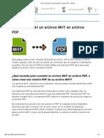 Cómo Convertir Un Archivo MHT en Archivo PDF - PDF24
