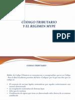 Codigo Tributario y Regimen Mype