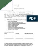 BDO - Secretary's Certificate.docx