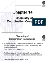 Chapter 14 Chemistry of Coordination Compounds
