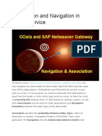 SAp GatewayAssociation and Navigation in OData Service
