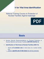Vital area identification Approach