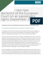 Passengers' Rights Newsflash