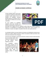Actividades Culturales y Artísticas