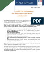 CP - Déclenchement Du Plan Canicule Niveau 3 en Moselle