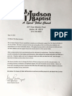 The House Of Esther Support Letters May 2019