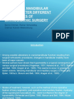 Changes in Mandibular Mobility After Different Procedures of (1)