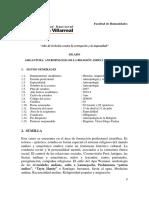 Silabo Antropología de La Religiona Andina Amazonica 2019 - 1