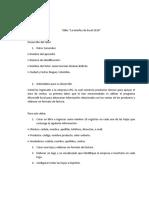 """ACTIVIDAD 1 Taller """"La Interfaz de Excel 2016"""""""
