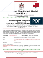 Affidavit of Clear Perfect Allodial Land Title for (1)