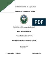 Informe Sodio(Sal) Nutricion Animal