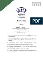 (m12) Att Paper 1 - Part 1 Qp