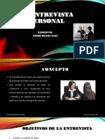 La Entrevista Personal
