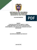 Descripcion General-Proyecto Construccion AulaInformatica IED Pivijay