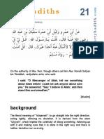 hadith 21