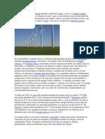 La Energía Eólica Es La Energía Obtenida a Partir Del Viento
