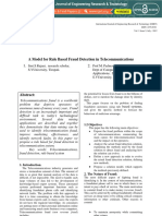 A Model for Rule Based Fraud Detection in Telecommunication