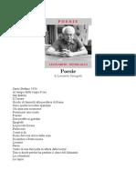Leonardo Sinisgalli - Poesie Varie