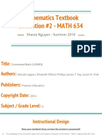 mathematics textbook evaluation 2 - math 634