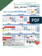 Calendario 2018-2019 Las Torres de Cotillas