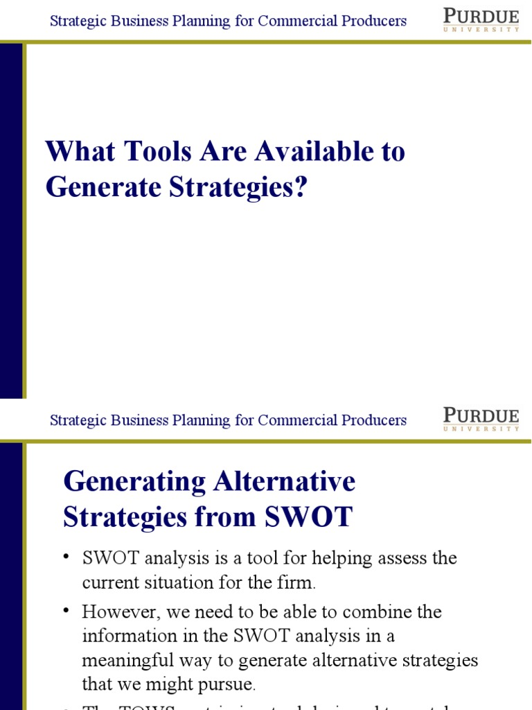 generic strategies in strategic management pdf