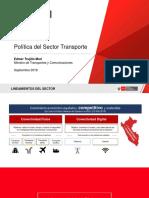 Políticas del del Sector Transporte /  Perú