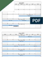 programacion calendario