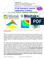 16.MINITAB Software Application Training Couse Outline 2Days - SPC