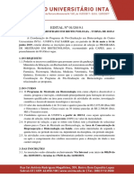 Edital Mestrado Biotecnologia UNINTA 2019.2
