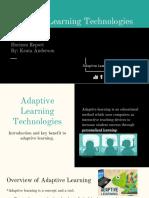 adaptive learning technologies the horizon report  1